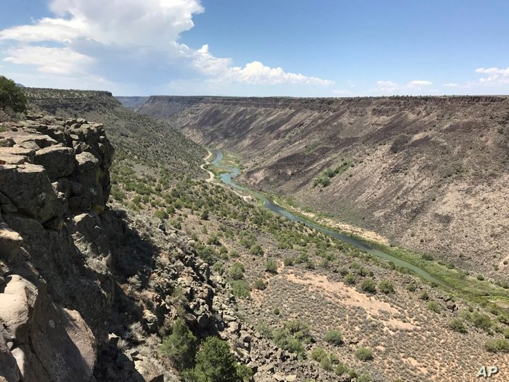 This August 2018 photo shows the Taos Gorge in New Mexico. Hikers have embarked on a 500-mile (805-kilometer) expedition that will traverse New Mexico. The mission: Chart out the best route and identify what challenges might lie ahead as the state mo...
