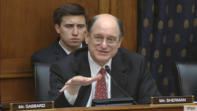 Rep. Brad Sherman discusses Hong Kong situation at House subcommittee hearing, Dec. 2, 2014