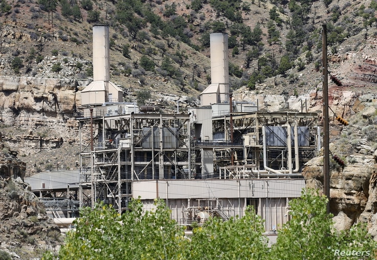 FILE - The coal-fired Castle Gate Power Plant sits idle outside Helper, Utah, Aug. 3, 2015. The plant was closed in April 2015 in anticipation of new EPA regulations. Former President Barack Obama's Clean Power Plan sought to to tackle greenhouse gas...