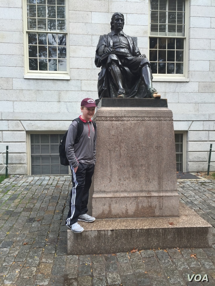 Though most of his Harvard courses were online, Braxton Moral, 16, spent one summer taking classes on the camput of Harvard University.