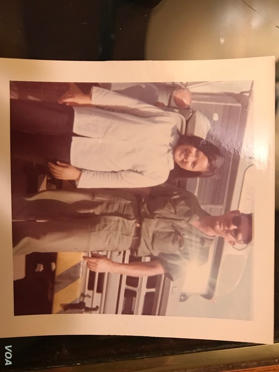 Gary Wittig, right, and Huỳnh Thị Chút in Đà Nẵng, the central province of Vietnam. Wittig met Chút during his second tour to Vietnam from 1968-1969, where he worked as a duty driver at Camp Tien Sha.