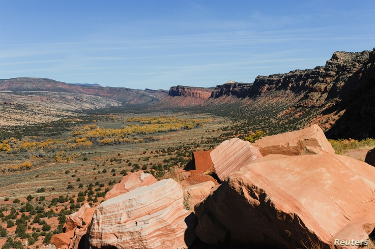 Comb Wash cuts from north to south through Cedar Mesa in Bears Ears National Monument near Blanding, Utah, Oct. 27, 2017.