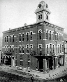 This is Deadwood City Hall, pretty fancy digs for the frontier, in 1890, less than a year after South Dakota became a state.