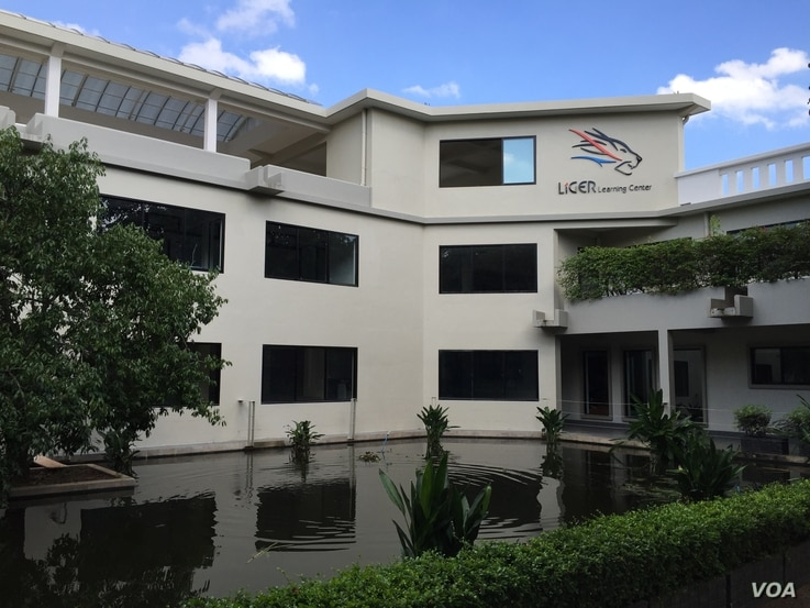 The Liger Learning Center's main building on the non-profit's compound near the Cambodia capital. In addition to the main building, the campus has a science building and dormitories for the students, all of whom live on site and get home five times a...