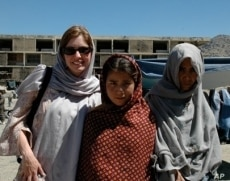 Susan Retik Ger with local friends in Kabul