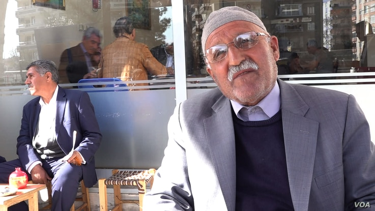Retiree Seydar predicts strong support for the HDP because of voter anger over the removal by authorities of elected mayors of the pro-Kurdish party. (DJones/VOA)
