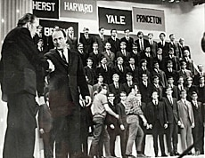 The all-male Yale Glee Club appeared on the Ed Sullivan Show in 1969.