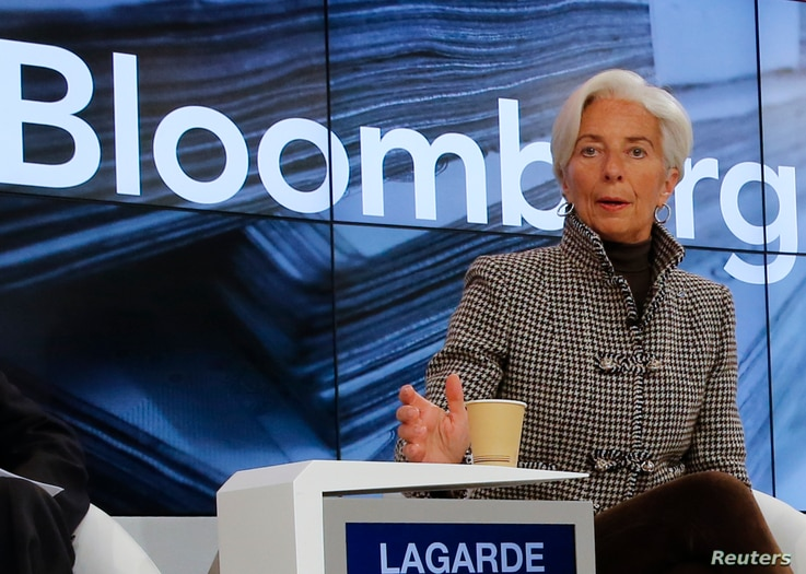 Christine Lagarde, Managing Director, International Monetary Fund (IMF), arrives for the session 'Where Is the Chinese Economy Heading?' of the annual meeting of the World Economic Forum (WEF) in Davos, Switzerland, Jan. 21, 2016.