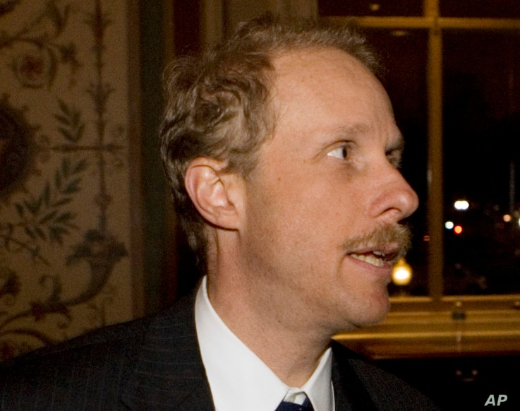 FILE - In this Dec. 11, 2008 file photo, Stephen Feinberg  is seen on Capitol Hill in Washington.