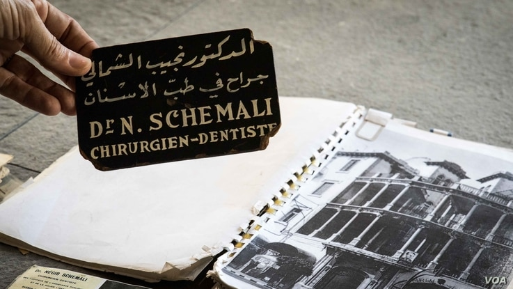 Before its restoration, evidence of those who had lived in the building was strewn over the floor. Among them was Dr Schemali, a dentist.