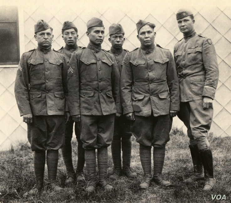 Choctaw Code Talkers in France during World War I. Photo courtesy of the U.S. Army.