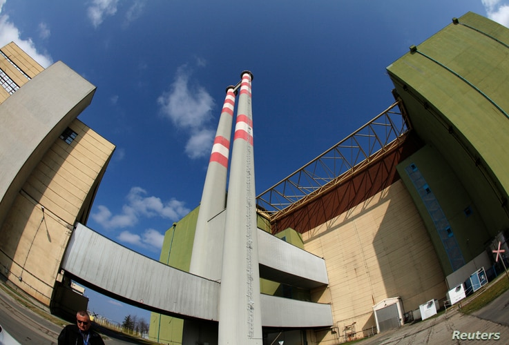 A view of the Paks nuclear power plant reactor unit number four building in Paks, located east of Budapest, March 21, 2011.