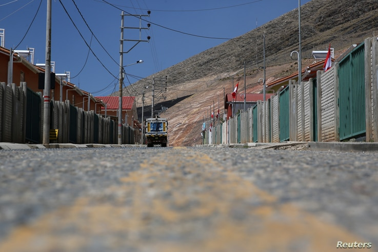 View of a street in the town of Nueva Fuerabamba in Apurimac, Peru, Oct. 4, 2017.