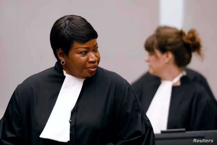 Public Prosecutor Fatou Bensouda attends the trial of Congolese warlord Bosco Ntaganda at the ICC (International Criminal Court) in the Hague, the Netherlands, Aug. 28, 2018.