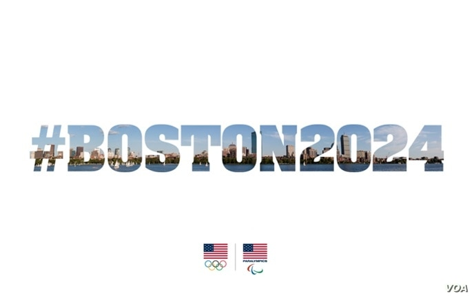 U.S. Olympic Committee's graphic announcing Boston's candidacy for the 2024 Olympics.