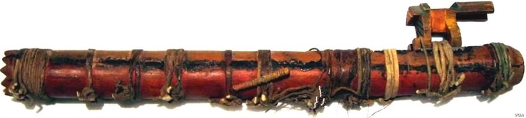 Nineteenth Century Ojibwe flute, part of the Crosby Brown Collection of Musical Instruments, 1889, Metropolitan Museum of Art, N.Y.