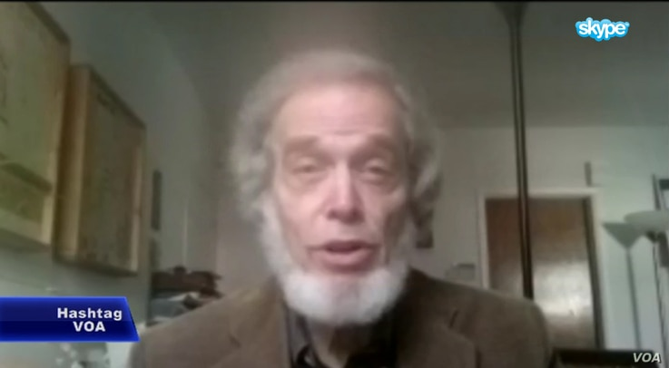 Lawrence Wittner, American historian and social justice activist in Albany, New York, speaking on HashtagVOA, Nov. 3, 2015.