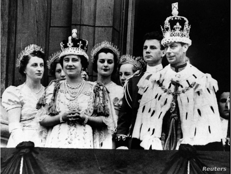 Queen Elizabeth, the Queen Mother, is seen here with King George VI in a photo dated 1937.