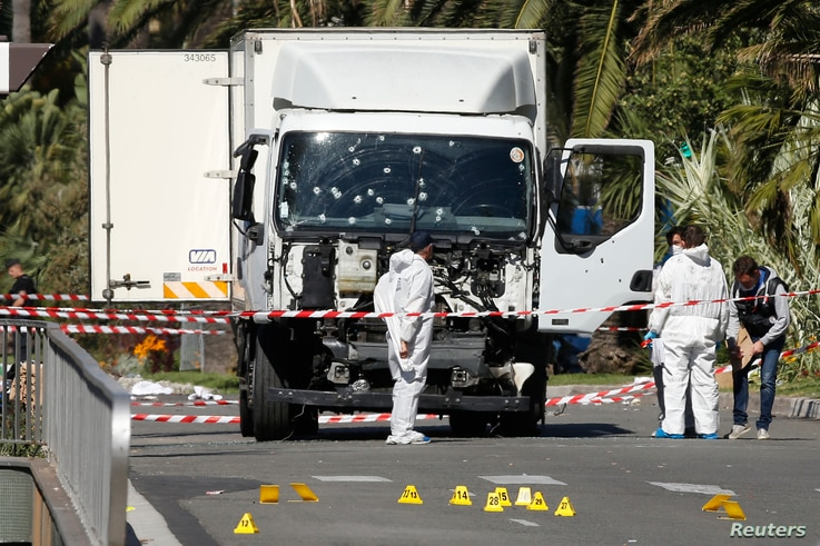 She said the truck continued through the promenade, which is a pedestrian street, until the driver was killed by police.  Ringe said at 7 a.m., hours after the attack, she could still see several bodies covered with sheets from her window.