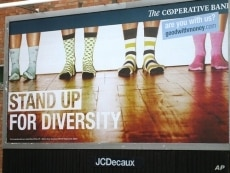 If this were a billboard showing today's workers at today's US companies, you'd see many more kinds of hose and toes.