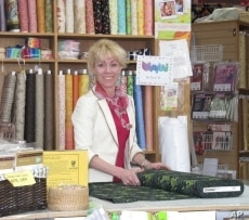 Store co-owner Karen Chubin says she liked the concept behind the Climate Quilt Campaign and wanted to be part of it.