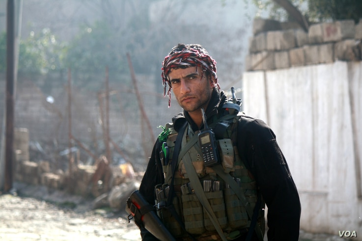 Iraqi soldiers say they expect fighting in western Mosul could be more brutal than battles over the last 100 days, when Iraqi and coalition forces took Mosul and surrounding areas east of the Tigris River in Mosul, Iraq, Jan. 23, 2017. (H. Murdock/VO...