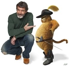 """Antonio Banderas voices Puss In Boots in """"Shrek Forever After"""""""