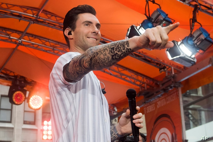 """FILE - Adam Levine from the band Maroon 5 performs on NBC's """"Today"""" show."""