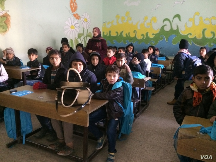 Children are attending classes for the first time in three years this month in Mosul, and expect to take placement exams in mid-February, Jan. 30, 2017. (H. Murdock/VOA)