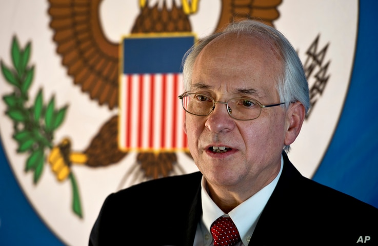 FILE - The United States special envoy to South Sudan Donald Booth, Dec. 31, 2013.
