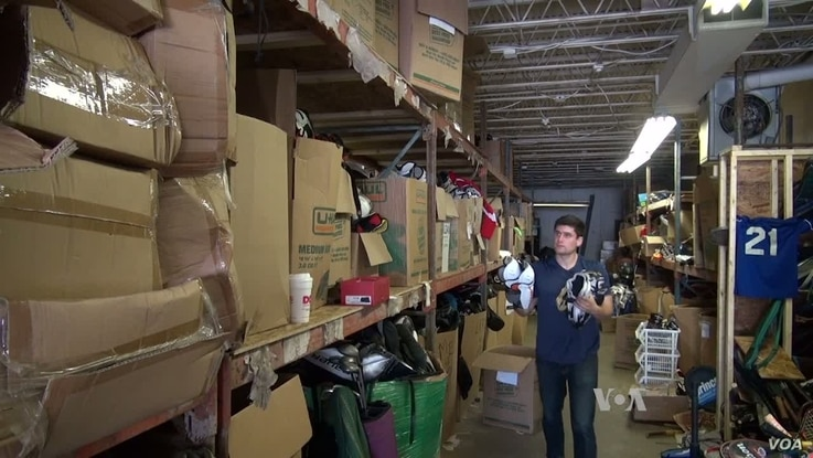 Leveling the Playing Field operation now has grown to a 370-square-meter warehouse space filled with a wide variety of sports gear worth more than $1.5 million.