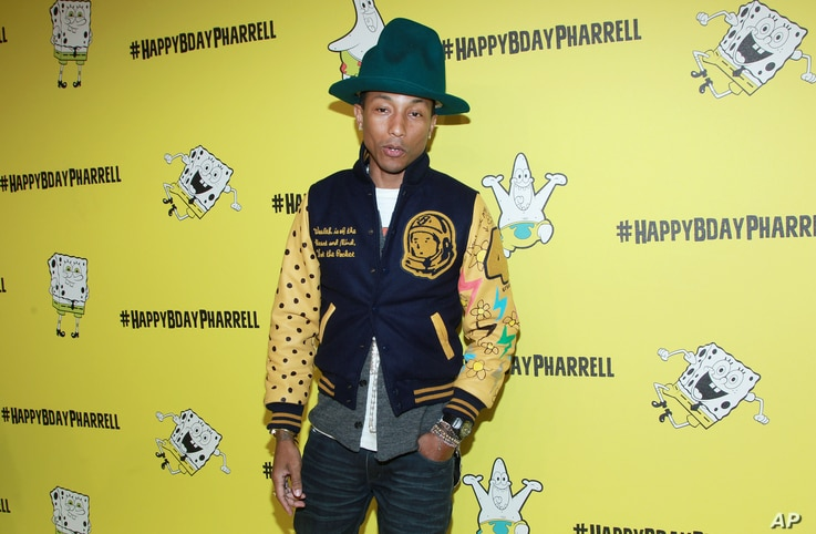 Pharrell Williams attends his SpongeBob-themed 41st birthday party at Cipriani, Wall Street, April 4, 2014 in New York.