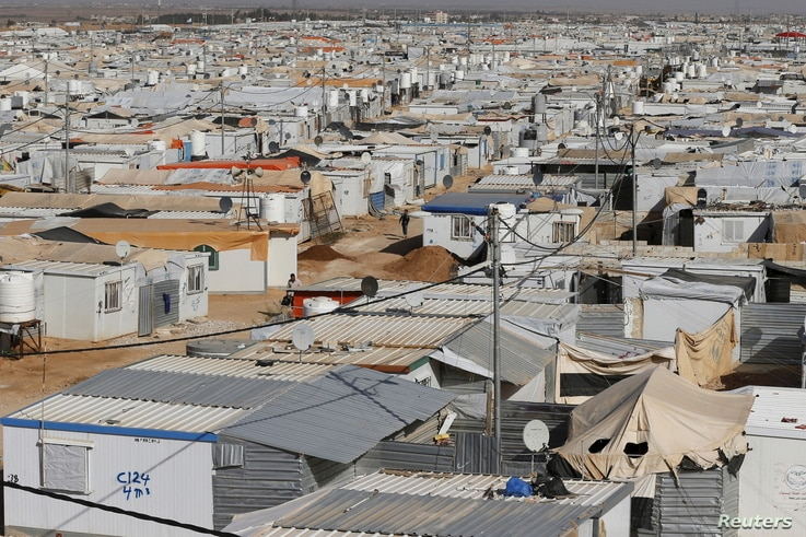 A general view shows Al Zaatari refugee camp in the Jordanian city of Mafraq, near the border with Syria, March 7, 2016. Since the beginning of the Syrian crisis, 50-80 Syrian children have been born in the Zaatari refugee camp each week, according t...