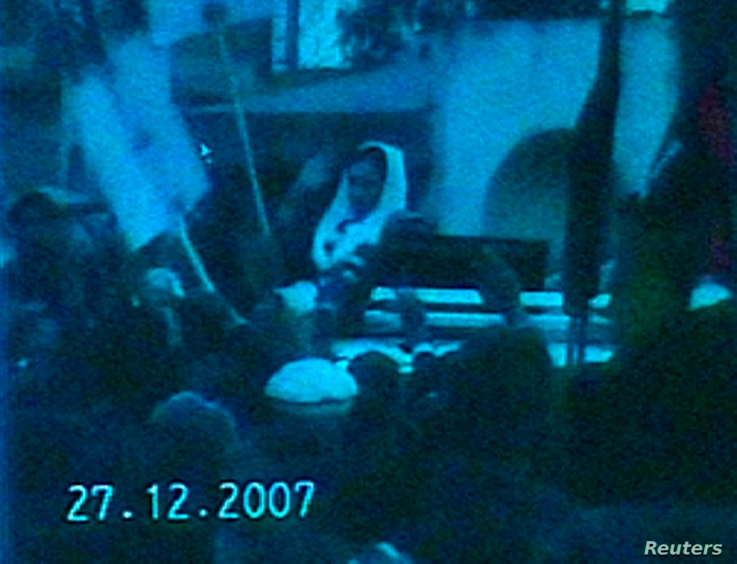TV grab released on December 28, 2007 shows former Pakistan prime minister Benazir Bhutto moments before she died following a rally in Rawalpindi. REUTERS/REUTERS TV