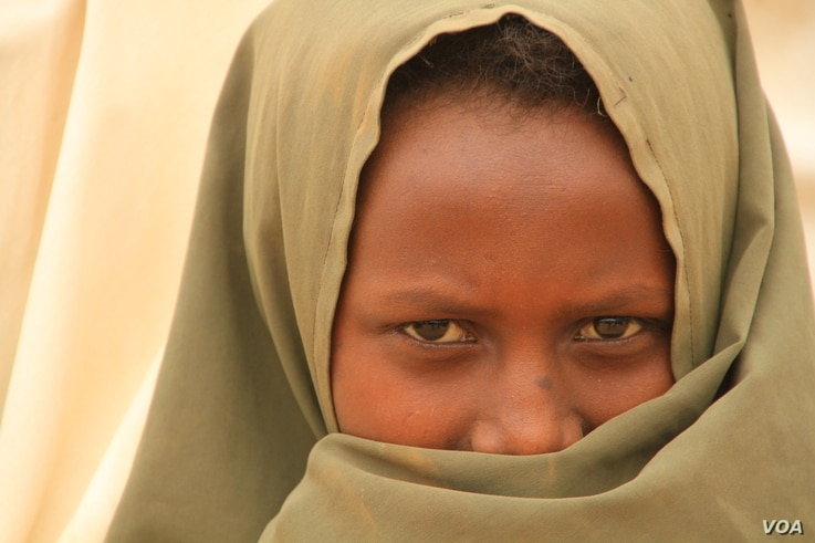Refugee in Kenya's Dadaab refugee camp on September 19, 2016. (Jill Craig/VOA)