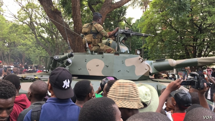 The army led the protests in Harare in November 2017 that led to then-President Robert Mugabe ending his 37 years in power in Zimbabwe.