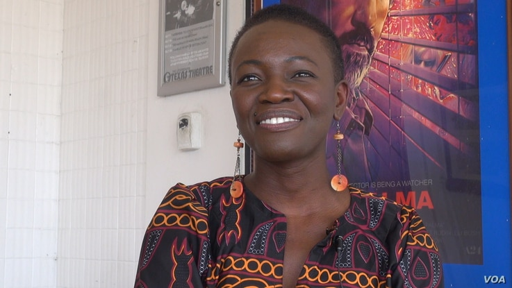 """Constance Ejuma is from Cameroon but has lived in the U.S. since age 10. She lives in Los Angeles and has been in numerous TV shows, commercials and films. She won the best-actress award at the festival for her role in """"Ben and Ara."""" (G. Flakus/VOA)"""