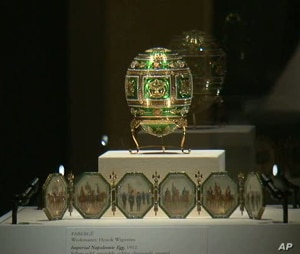 Each of Fabergé's Imperial Easter Eggs contains a surprise inside, such as miniature paintings.