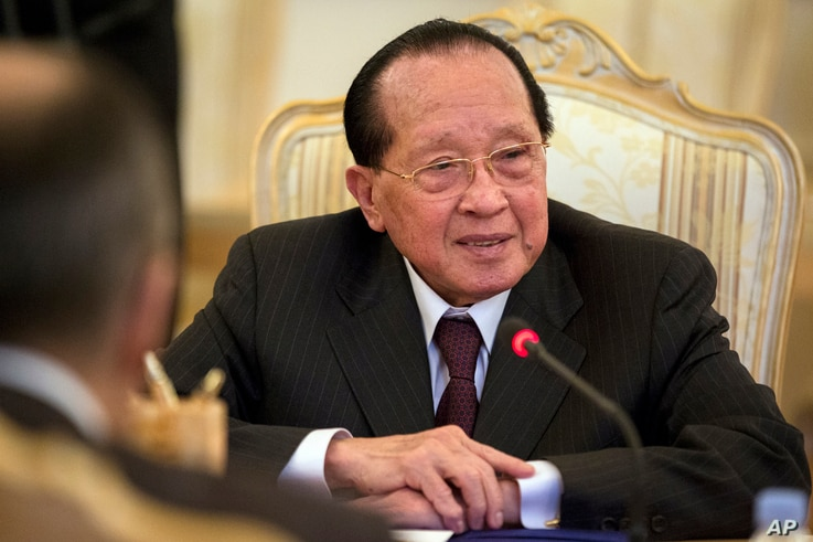 FILE - Cambodian Foreign Minister Hor Namhong.