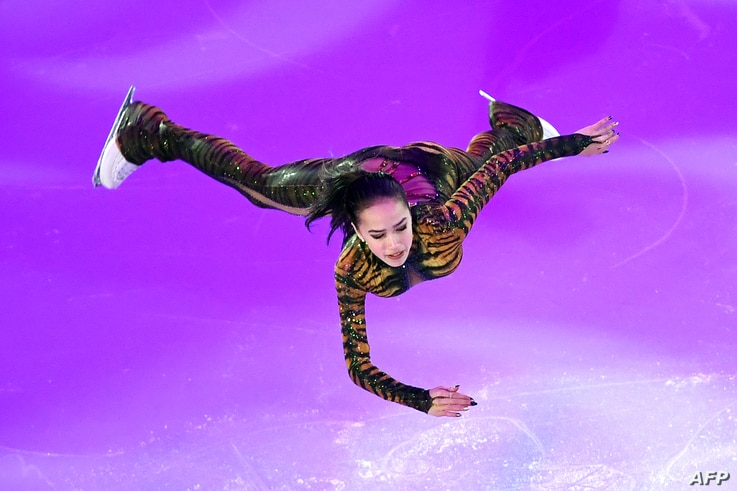 Russia's Alina Zagitova performs during the Gala Exhibition at the ISU European Figure Skating Championships in Moscow on January 21, 2018.