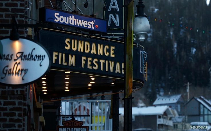 The marque on the Egyptian Theatre is pictured before the opening day of the Sundance Film Festival in Park City, Utah, Jan. 21, 2015.
