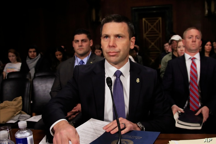 FILE - Customs and Border Protection Commissioner Kevin McAleenan testifies before a Senate Judiciary Committee hearing on Capitol Hill in Washington, Dec. 11, 2018.