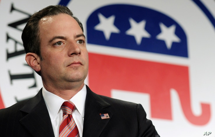 FILE - In this Jan. 24, 2014 file photo, Republican National Committee Chairman Reince  Priebus is seen at the RNC winter meeting in Washington.