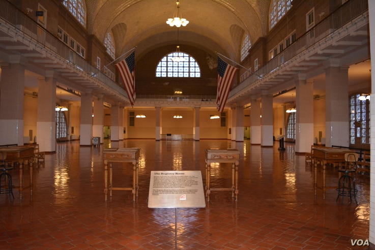 In Ellis Island's 2nd floor Registry Room, millions of European immigrants underwent medical and legal examinations, and learned if they would be allowed to continue on to the mainland.