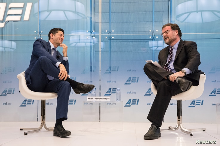 FILE - Jonah Goldberg is pictured as he participates in a discussion at an American Enterprise Institute forum in Washington, D.C., July 19, 2018.
