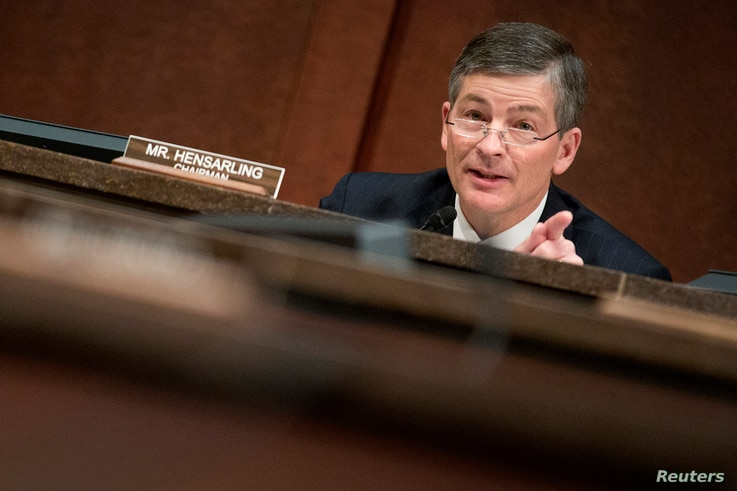 """Chairman of the House Financial Services Committee Jeb Hensarling (R-TX) questions Housing and Urban Development (HUD) Secretary Julian Castro during a hearing on """"Oversight of the Federal Housing Administration"""", on Capitol Hill in Washington, Feb. ..."""