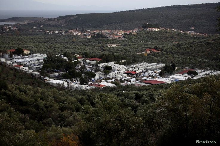 General view shows the Moria camp for refugees and migrants on the island of Lesbos, Greece, Dec. 1, 2017.