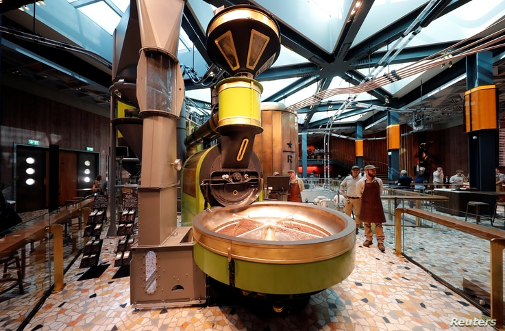 General view of the new Starbucks Reserve Roastery flagship in downtown Milan, Italy, Sept. 4, 2018.