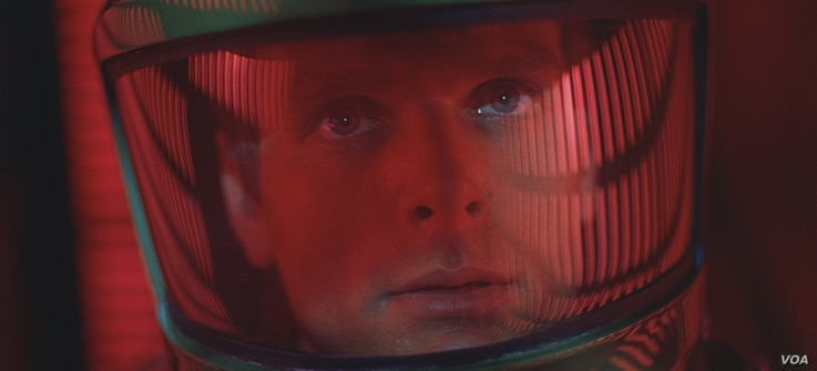 "KEIR DULLEA as Dr. David Bowman in the Stanley Kubrick directed sci-fi epic ""2001: A SPACE ODYSSEY,"" Warner Bros. Pictures is releasing an ""unrestored"" 70mm print in select U.S. theaters."