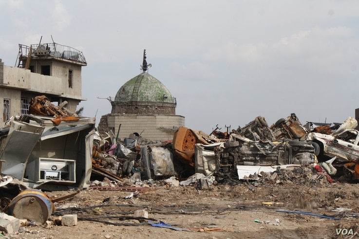 Buildings over 1,000 years old were reduced to rubble during the battle for Old Mosul, which is now almost completely unlivable on March 1, 2018 in Old Mosul, Iraq.